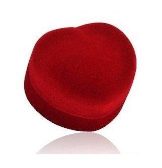 Bijoux Boite à bijoux - Ecrin pour bague de mariage (de fiançailles) - Rouge et Noir