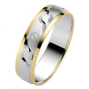 Liebe-05003621695350-Alliance-Femme-Or-Bicolore-5851000-14-Cts-Diamant-0