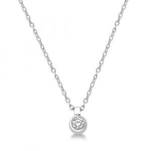 Miore-M9020P-Collier-avec-Pendentif-Femme-Or-blanc-3751000-9-carats-098-gr-Diamant-005-cts-45-cm-0