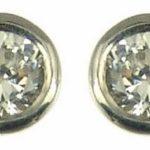 Boucles d'oreille - Femme - Or blanc (18 carats) 0.81 Gr - Diamant 0.15 Cts 2    Poids du diamant : 0.15 cts Couleur du diamant : H-I Pureté du diamant : SI2 (Légère inclusion)