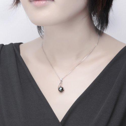 collier perle noire fantaisie
