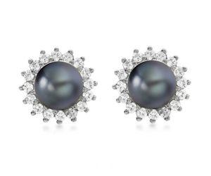 Carissima-Gold-Boucles-doreille-Femme-Or-blanc-9-cts-07-Gr-Diamant-Perle-d-Eau-douce-Chinoise-0