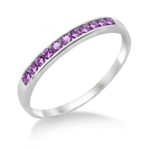 Miore-MT025ARO-Bague-Femme-Or-blanc-9-carats-127-gr-Amthyste-T-54-0