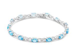 Miore-SA964B-Bracelet-Femme-Or-Blanc-9-Cts-3751000-70-Gr-Topaze-bleue-0