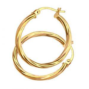 Boucles-dOreilles-Croles-Femme-Or-jaune-9-carats-1-Gr-0