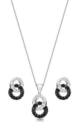 Carissima Gold - Parure Collier et boucles d'oreilles - Femme - Or blanc (9 cts) 4.4 Gr - Diamant 2    Bijou femme en or blanc 375/1000 Poids total du métal : 4,4 g Type de pierre : diamant