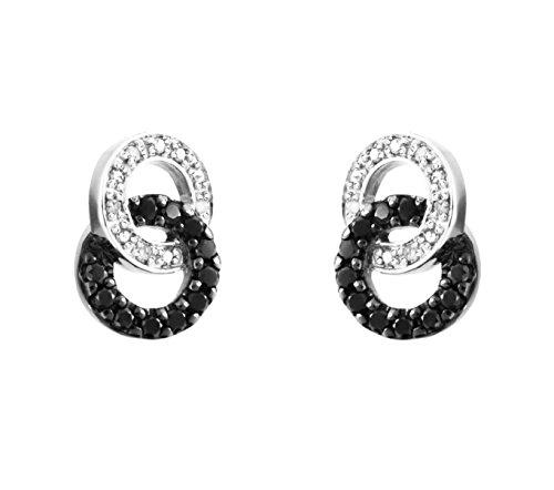 Carissima Gold - Parure Collier et boucles d'oreilles - Femme - Or blanc (9 cts) 4.4 Gr - Diamant 4    Bijou femme en or blanc 375/1000 Poids total du métal : 4,4 g Type de pierre : diamant