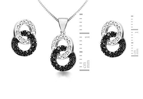 Carissima Gold - Parure Collier et boucles d'oreilles - Femme - Or blanc (9 cts) 4.4 Gr - Diamant 5    Bijou femme en or blanc 375/1000 Poids total du métal : 4,4 g Type de pierre : diamant