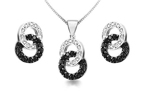 Carissima Gold - Parure Collier et boucles d'oreilles - Femme - Or blanc (9 cts) 4.4 Gr - Diamant 1    Bijou femme en or blanc 375/1000 Poids total du métal : 4,4 g Type de pierre : diamant