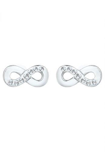 Elli - Boucles d'oreilles - Clous et puces Infinity- Argent 925/1000 - Swarovski Crystal - 307582913 2    Conçu avec élégance en ARGENT MASSIF finement poli (925/1000), suffisament durable pour résister à l'épreuve du temps. Une parure de bijoux unique, composée de CRISTAUX SWAROVSKI scintillants. L'élégance des pièces permet de les porter pour toutes occasions. L'ARGENT MASSIF est le métal le plus brillant et se décline à l'infini au fil des pièces de ton dressing! Un cadeau IDÉAL à faire à un être cher!