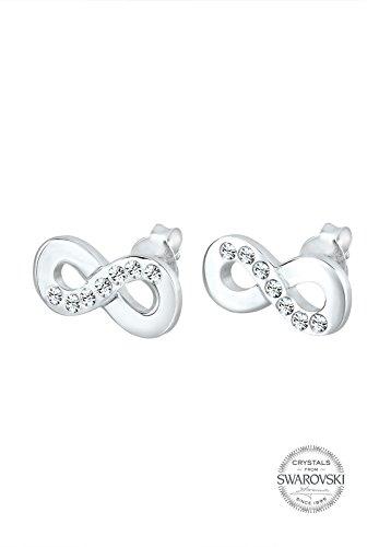 Elli - Boucles d'oreilles - Clous et puces Infinity- Argent 925/1000 - Swarovski Crystal - 307582913 3    Conçu avec élégance en ARGENT MASSIF finement poli (925/1000), suffisament durable pour résister à l'épreuve du temps. Une parure de bijoux unique, composée de CRISTAUX SWAROVSKI scintillants. L'élégance des pièces permet de les porter pour toutes occasions. L'ARGENT MASSIF est le métal le plus brillant et se décline à l'infini au fil des pièces de ton dressing! Un cadeau IDÉAL à faire à un être cher!
