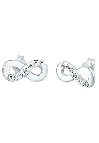 Elli - Boucles d'oreilles - Clous et puces Infinity- Argent 925/1000 - Swarovski Crystal - 307582913 1    Conçu avec élégance en ARGENT MASSIF finement poli (925/1000), suffisament durable pour résister à l'épreuve du temps. Une parure de bijoux unique, composée de CRISTAUX SWAROVSKI scintillants. L'élégance des pièces permet de les porter pour toutes occasions. L'ARGENT MASSIF est le métal le plus brillant et se décline à l'infini au fil des pièces de ton dressing! Un cadeau IDÉAL à faire à un être cher!