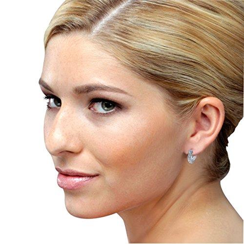 Goldmaid - Boucles d'oreilles créoles - Argent 925/1000 - Oxyde de Zirconium 3    Créoles femme en argent 925/1000 Incrustées de 14 oxydes de zirconium blanches Poids total du métal: 4.2 gr