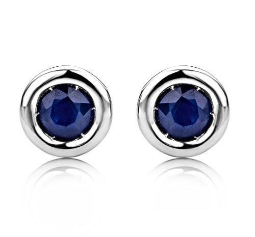 Boucles d'Oreilles saphir Miore - USP001EWS -  Femme - Or Blanc 375/1000 (9 carats) 0.7 Gr - Saphir 3    Or blanc 375/1000 Type de pierre : saphir Nombre de pierres : 2