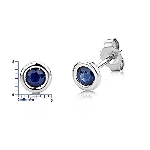 Boucles d'Oreilles saphir Miore - USP001EWS -  Femme - Or Blanc 375/1000 (9 carats) 0.7 Gr - Saphir 4    Or blanc 375/1000 Type de pierre : saphir Nombre de pierres : 2