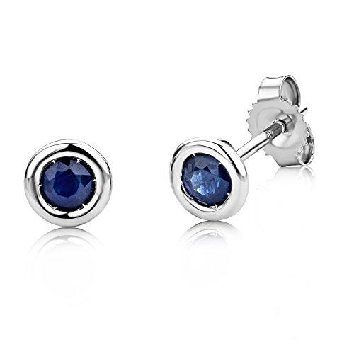 Boucles d'Oreilles saphir Miore - USP001EWS -  Femme - Or Blanc 375/1000 (9 carats) 0.7 Gr - Saphir 1    Or blanc 375/1000 Type de pierre : saphir Nombre de pierres : 2