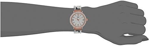 Burgi Femme Montre à quartz avec cadran argenté, affichage analogique et bracelet en alliage Multicolore bur140rg 2