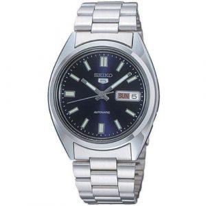 Seiko-SNXS77K-5-Gent-Montre-Homme-Automatique-Analogique-Cadran-Bleu-Bracelet-Acier-Gris-0