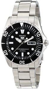 Seiko-SNZF17K1-5-Sports-Montre-Homme-Automatique-Analogique-Cadran-Noir-Bracelet-Acier-Gris-0