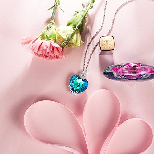 Lady Colour Maman Je Taime Collier Femme Cristaux De Swarovski Bleu Bijoux Cadeau Anniversaire Fete Des Meres Idee Cadeau Noel Cadeau Saint Valentin