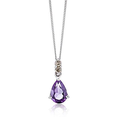 Miore Collier Femme  375/1000 (9 carats) Améthyste et Lila 2    <p>L'or blanc des bijoux Miore offre une touche d'élégance et met en valeur les pierres incrustées Le violet profond de l'améthyste, pierre de celles et ceux nés en février, donne une personnalité royale à vos bijoux Miore La femme qui porte un diamant est l'association parfaite entre les deux plus beaux joyaux du monde.La femme qui porte un diamant est l'association parfaite entre les deux plus beaux joyaux du monde Chaque bijou Miore est livré avec son certificat d'authenticité Les bijoux Miore sont présentés dans un bel écrin bleu</p>