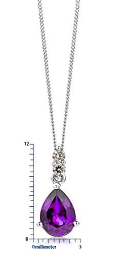 Miore Collier Femme  375/1000 (9 carats) Améthyste et Lila 4    <p>L'or blanc des bijoux Miore offre une touche d'élégance et met en valeur les pierres incrustées Le violet profond de l'améthyste, pierre de celles et ceux nés en février, donne une personnalité royale à vos bijoux Miore La femme qui porte un diamant est l'association parfaite entre les deux plus beaux joyaux du monde.La femme qui porte un diamant est l'association parfaite entre les deux plus beaux joyaux du monde Chaque bijou Miore est livré avec son certificat d'authenticité Les bijoux Miore sont présentés dans un bel écrin bleu</p>