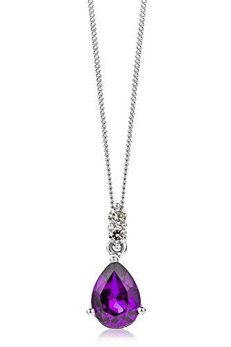 Miore Collier Femme  375/1000 (9 carats) Améthyste et Lila 1    <p>L'or blanc des bijoux Miore offre une touche d'élégance et met en valeur les pierres incrustées Le violet profond de l'améthyste, pierre de celles et ceux nés en février, donne une personnalité royale à vos bijoux Miore La femme qui porte un diamant est l'association parfaite entre les deux plus beaux joyaux du monde.La femme qui porte un diamant est l'association parfaite entre les deux plus beaux joyaux du monde Chaque bijou Miore est livré avec son certificat d'authenticité Les bijoux Miore sont présentés dans un bel écrin bleu</p>