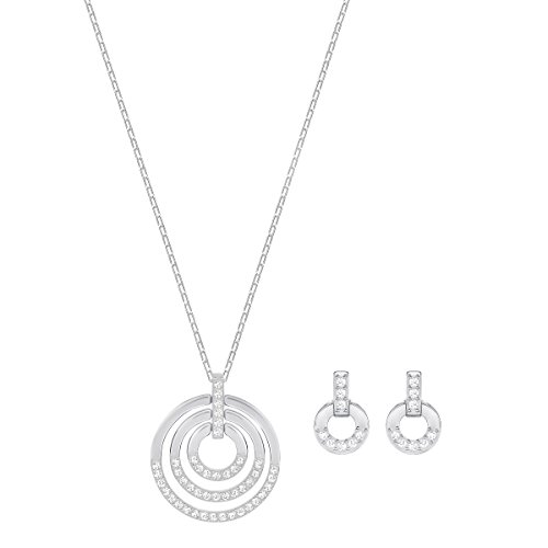 Swarovski Parure Circle, medium, blanc, métal rhodié 2    <p>Terminez votre look avec élégance et simplicité avec ce contemporain mais intemporel ensemble de bijoux, y compris un pendentif sur une chaîne, et une paire de boucles d'oreille assortie. Les nouveaux designs raffinés afficher une super facile à porter la combinaison de cristal transparent et rhodium plaqué. L'accessoire idéal pour toutes les tenues en toute occasion, vous aurez envie de les porter encore et encore. Une EXCELLENTE idée de cadeau. Longueur du collier: 147/20,3cm Longueur des boucles d'oreille: 3/20,3cm l'article No.: 5367727 Peaufinez votre look avec élégance et aisance grâce à cette parure de bijoux à la fois contemporains et intemporels. Elle se compose d'un pendentif sur une chaîne et d'une paire de boucles d'oreilles assorties.Le nouveau design sophistiqué présente une association ultra facile à porter de cristal incolore et de métal rhodié. C'est l'accessoire idéal pour toutes les tenues et toutes les occasions. Une superbe idée cadeau. Les bijoux Swarovski alimentent véritablement l'expression créative de soi-même. Depuis 1895, le savoir-faire du fondateur Daniel Swarovski en matière de taille du cristal a défini la société.  Sa passion inébranlable pour l'innovation et le design en a fait la première marque mondiale de bijoux et d'accessoires en cristal taillé.</p>