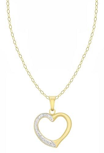 Carissima Gold - Parure Collier et Boucles d'Oreilles - Femme - Or Jaune 375/1000 (9 Cts) 0.98 Gr 2 Bijoutier Boutique Bijou femme en or jaune 375/1000 Poids total du métal : 0,98 g Longueur du collier : 46 cm