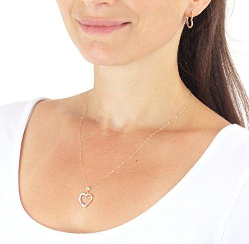 Carissima Gold - Parure Collier et Boucles d'Oreilles - Femme - Or Jaune 375/1000 (9 Cts) 0.98 Gr 3 Bijoutier Boutique Bijou femme en or jaune 375/1000 Poids total du métal : 0,98 g Longueur du collier : 46 cm