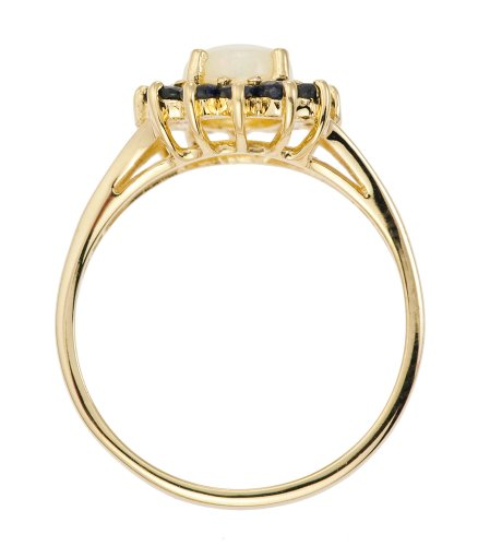 Bague Femme - Or jaune (9 cts) 2.3 Gr - Opale - Saphir - T 56.5 3 Bijoutier Boutique Bague Femme en Or jaune 375/1000 Poids total du métal: 2.07 gr Type de pierre : Opale