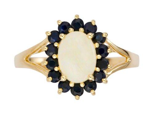 Bague Femme - Or jaune (9 cts) 2.3 Gr - Opale - Saphir - T 56.5 1 Bijoutier Boutique Bague Femme en Or jaune 375/1000 Poids total du métal: 2.07 gr Type de pierre : Opale