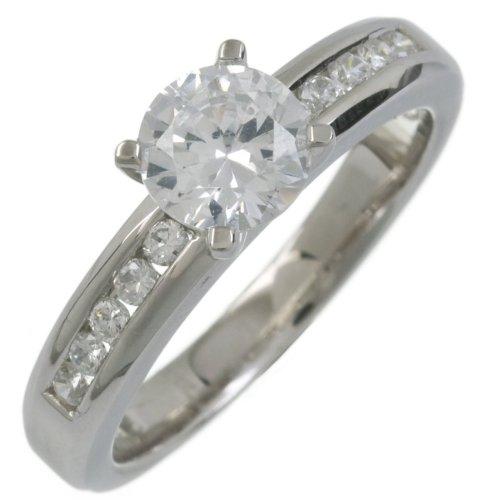Bague de Fiançailles - DPR8208(M) - Femme - Argent 3.7 Gr - Oxyde de zirconium - T 53 2 Bijoutier Boutique Bague Femme en Argent 925/1000 Poids total du métal: 2 gr Type de pierre : Oxyde de zirconium