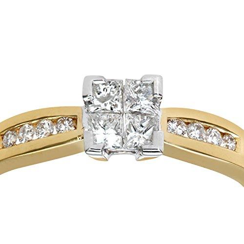 Bague de Fiançailles - PR6497 18KY (L) - Femme - Or jaune (18 cts) 2.5 Gr - Diamant - T 52 3 Bijoutier Boutique Bague Femme en Or jaune 750/1000 Poids total du métal: 2.2 gr Type de pierre : Diamant