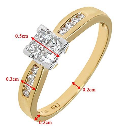 Bague de Fiançailles - PR6497 18KY (L) - Femme - Or jaune (18 cts) 2.5 Gr - Diamant - T 52 4 Bijoutier Boutique Bague Femme en Or jaune 750/1000 Poids total du métal: 2.2 gr Type de pierre : Diamant