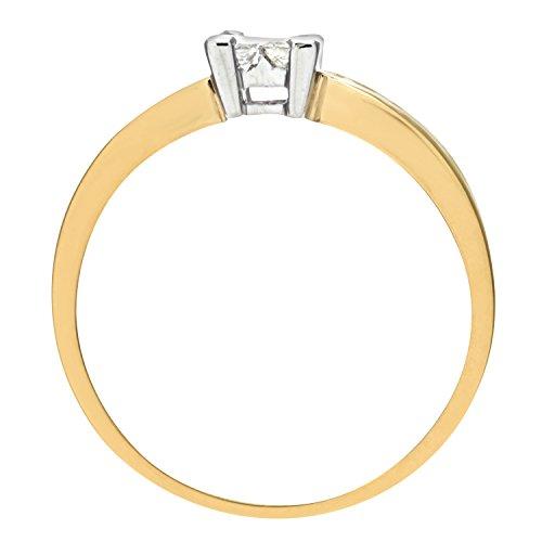 Bague de Fiançailles - PR6497 18KY (L) - Femme - Or jaune (18 cts) 2.5 Gr - Diamant - T 52 5 Bijoutier Boutique Bague Femme en Or jaune 750/1000 Poids total du métal: 2.2 gr Type de pierre : Diamant