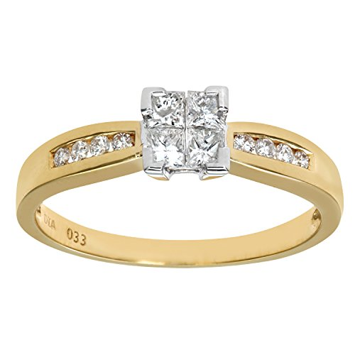 Bague de Fiançailles - PR6497 18KY (L) - Femme - Or jaune (18 cts) 2.5 Gr - Diamant - T 52 1 Bijoutier Boutique Bague Femme en Or jaune 750/1000 Poids total du métal: 2.2 gr Type de pierre : Diamant