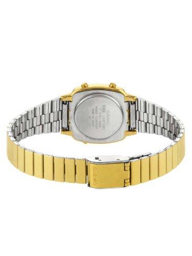 Casio - Vintage - LA670WEGA-1EF - Montre Femme - Quartz Digital - Cadran Noir - Bracelet Acier Doré 2 Bijoutier Boutique Montre pour Femme à mouvement Quartz - Bracelet en Acier inoxydable doré Type d'affichage : Digital Type de verre : Plastique