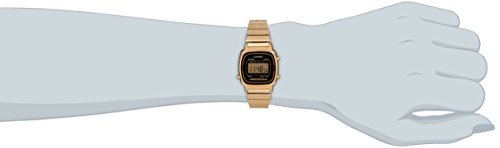 Casio - Vintage - LA670WEGA-1EF - Montre Femme - Quartz Digital - Cadran Noir - Bracelet Acier Doré 4 Bijoutier Boutique Montre pour Femme à mouvement Quartz - Bracelet en Acier inoxydable doré Type d'affichage : Digital Type de verre : Plastique