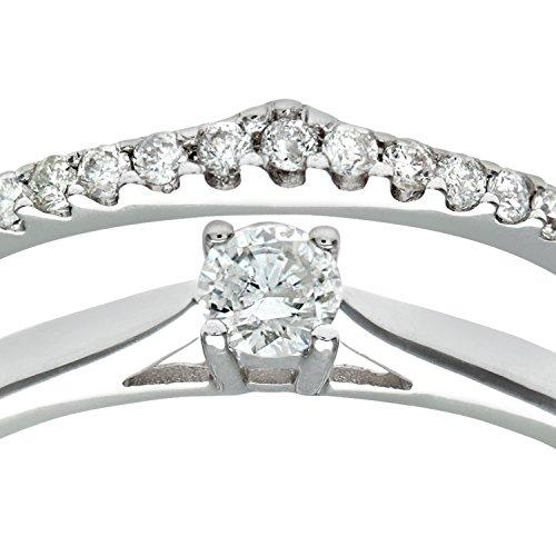 Ensemble Bague de fiançailles et alliance Femme - Or Blanc 375/1000 (9 Cts) 2.6 Gr - Diamant - T 54 3 Bijoutier Boutique Bague Femme en Or blanc 375/1000 Poids total du métal: 2.6 gr Type de pierre : Diamant