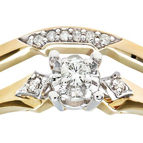 Ensemble Bague de fiançailles et alliance Femme - Or Jaune 375/1000 (9 Cts) 3.1 Gr - Diamant - T 52 3 Bijoutier Boutique Bague Femme en Or jaune 375/1000 Poids total du métal: 3.1 gr Type de pierre : Diamant