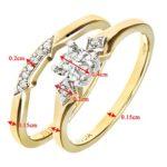 Ensemble Bague de fiançailles et alliance Femme - Or Jaune 375/1000 (9 Cts) 3.1 Gr - Diamant - T 52 9 Bijoutier Boutique Bague Femme en Or jaune 375/1000 Poids total du métal: 3.1 gr Type de pierre : Diamant