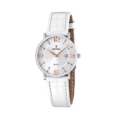 Festina - F16477/4 - Montre Femme - Quartz - Analogique - Bracelet Cuir Blanc 1 Bijoutier Boutique Montre pour Femme à mouvement Quartz - Bracelet en Cuir Blanc Type d'affichage : Analogique Diamètre du cadran : 31 millimètres