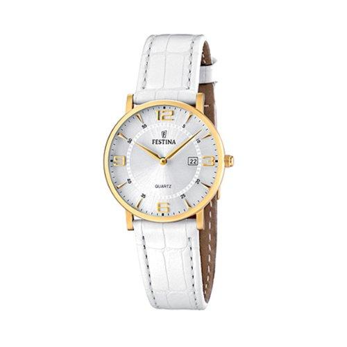 Festina - F16479/3 - Montre Femme - Quartz Analogique - Bracelet Cuir Blanc 2 Bijoutier Boutique Montre pour Femme à mouvement Quartz - Bracelet en Cuir Blanc Type d'affichage : Analogique Diamètre du cadran : 31 millimètres