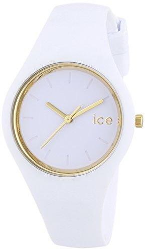ICE-Watch - ICE Glam - White - Small - Montre femme Quartz Analogique - Cadran Blanc - Bracelet Silicone Blanc - ICE.GL.WE.S.S.14 1 Bijoutier Boutique Cadran Rond Largeur du bracelet : 17 millimeters Etanchéité de la montre : 100 mètres (10 ATM)
