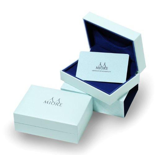 Miore - Bague Solitaire - Or Blanc 9 cts - Saphir - T56 - MKW9022R6 4 Bijoutier Boutique Bijou pour Femme en Or blanc 9carats (375/1000), 1.14 gr Type de pierre : Saphir - 0.30 carats Seconde pierre : Diamant