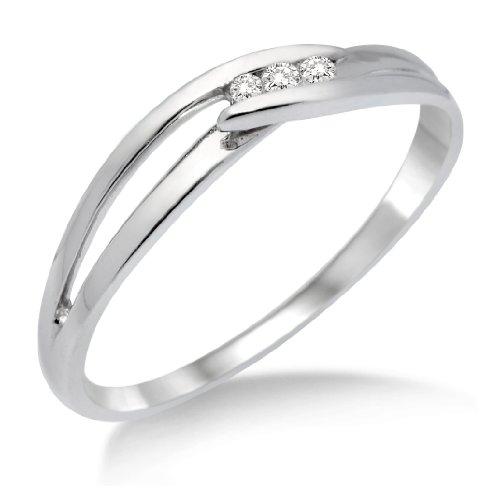 Miore - MA940RM - Bague Femme - Or blanc 375/1000 (9 carats) 1.06 gr - Diamant 0.075 cts - T 52 1 Bijoutier Boutique Bague Femme en Or blanc 375/1000 Poids total du métal: 1.06 gr Type de pierre : Diamant