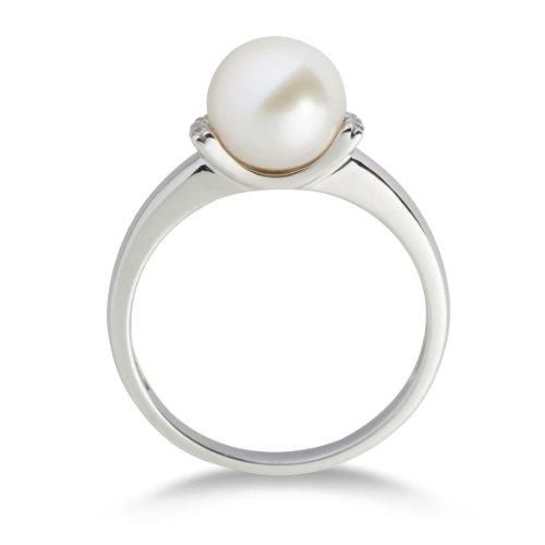 Miore - MG9006RO - Bague Femme - Or blanc 375/1000 (9 carats) 1.79 gr - perle et diamants - T 54 2 Bijoutier Boutique Bague Femme en Or blanc 375/1000 Poids total du métal: 1.79 gr Type de pierre : Diamant et Blanchehe