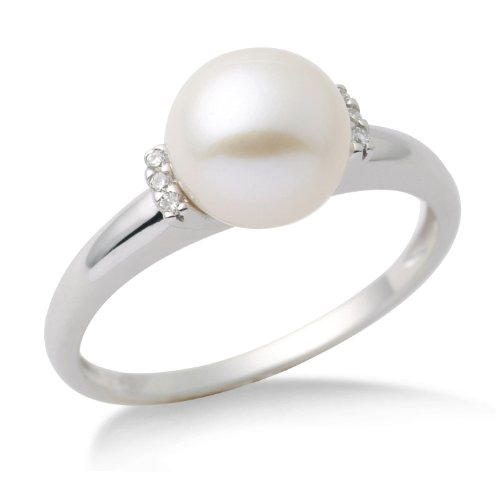 Miore - MG9006RO - Bague Femme - Or blanc 375/1000 (9 carats) 1.79 gr - perle et diamants - T 54 1 Bijoutier Boutique Bague Femme en Or blanc 375/1000 Poids total du métal: 1.79 gr Type de pierre : Diamant et Blanchehe