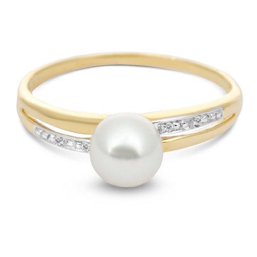 Miore - MT059R4 - Bague Femme - Or Jaune 375/1000 (9 carats) 1.12 gr - Diamant/Perles d'eau douce - T 54 2 Bijoutier Boutique Bijou Miore Bague Femme en Or jaune 375/1000 Poids total du métal: 1.12 gr Type de pierre : Diamant et Perle et Cristal
